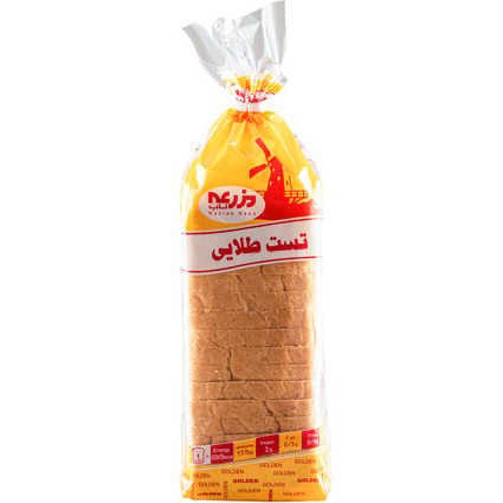 تصویر نان تست طلایی بزرگ